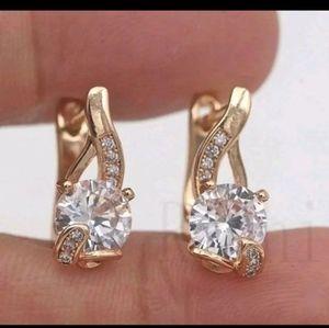 New gf cz earrings